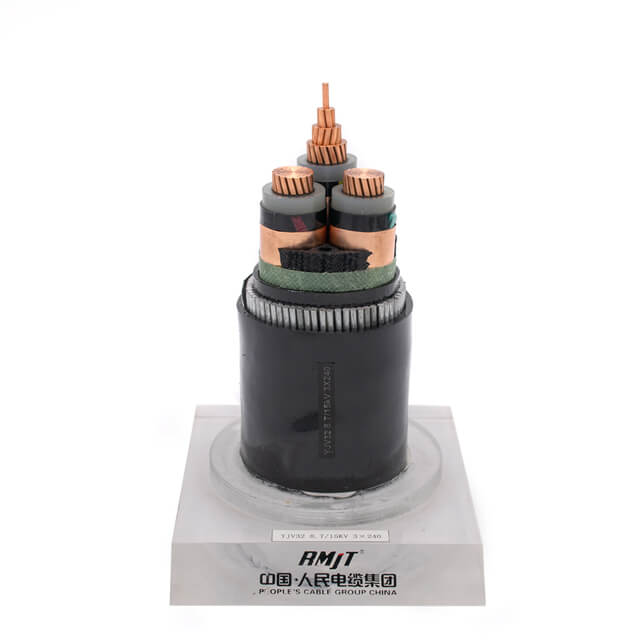 8.7/10kV (15kV) Copper Conductor XLPE Insulated Underground Medium Voltage Power Cable